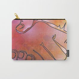 Cargiver Hands Harmony Pink and Orange Carry-All Pouch