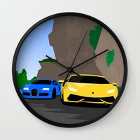 lamborghini Wall Clocks featuring Lamborghini & Bugatti by Szilárd A Legjobb