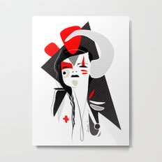 This head I hold 2 - Emilie Record Metal Print