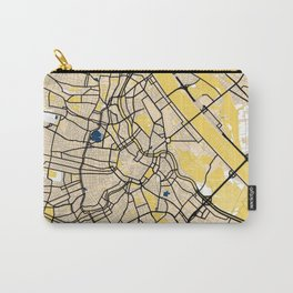 Vienna Yellow City Map Carry-All Pouch