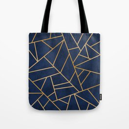 Art Deco Blue Tote Bag