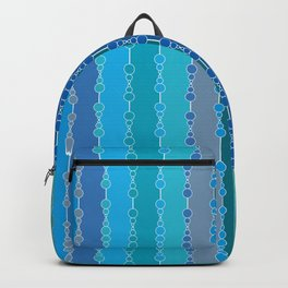 Multi-faceted decorative lines 7 Backpack