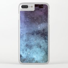 Tourmaline Nebula Clear iPhone Case
