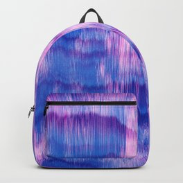 Modern Abstract Electric Blue Pink Watercolor Ikat Backpack