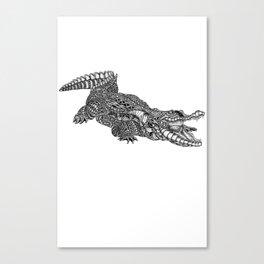 alligator-tangle Canvas Print