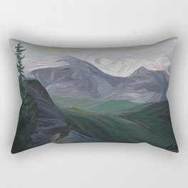 Mountain Landscape Painting: Banff, Alberta, Canada Rectangular Pillow