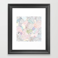 Mermaid Rainbow Dots Colorful Abstract Gems Framed Art Print