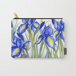 Blue Iris, Illustration Carry-All Pouch