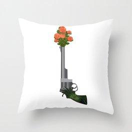 Shoot love Throw Pillow