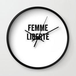 Femme Liberte Wall Clock