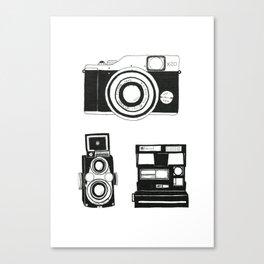 Three cameras. Canvas Print