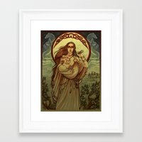 mother Framed Art Prints featuring Mother by Natasa Ilincic