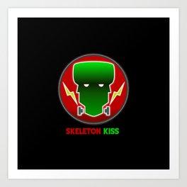 Neon Frankenstein Art Print