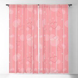 Heart shapes Blackout Curtain