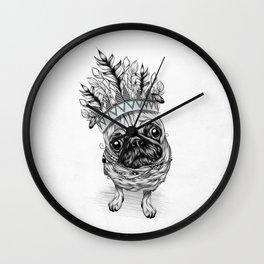 Indian Pug Wall Clock