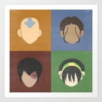 avatar Art Prints featuring Avatar by Raquel Segal