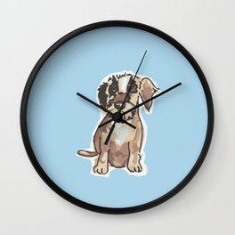 Frici Dachshund blue Wall Clock