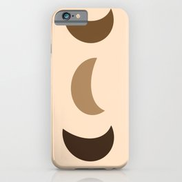 Three Abstract Moons iPhone Case