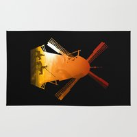 giants Area & Throw Rugs featuring Fighting Giants (dark version) by DV designstudio