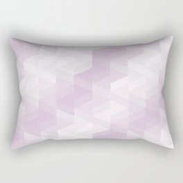 Tiles background in different shades of purple made with triangles mosaic Rectangular Pillow