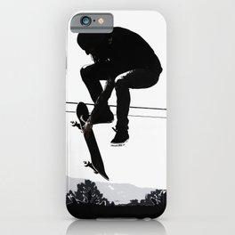 Flying High Skateboarder iPhone Case