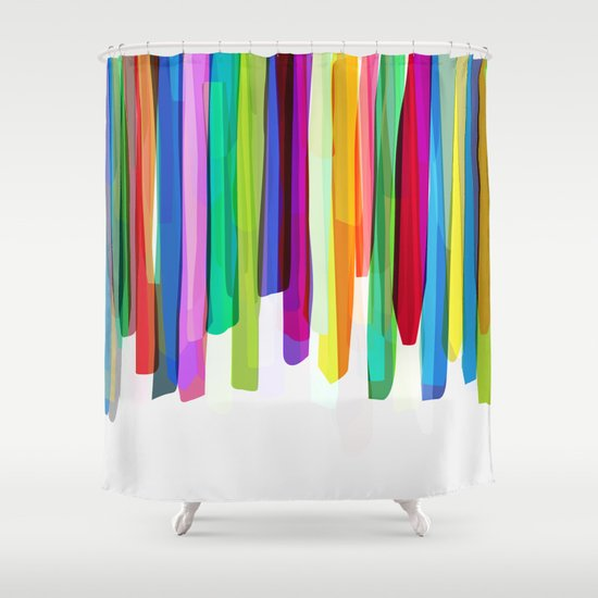 Colorful Stripes 2 Shower Curtain By Mareike Bohmer