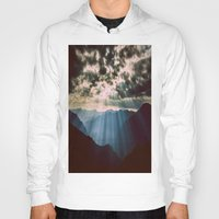 mountains Hoodies featuring mountainS Dark Sunset by 2sweet4words Designs