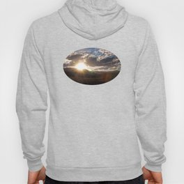 Wyoming Sunset with Lens Flair over the Beartooth Moutains Hoody