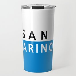 San Marino country flag name text Travel Mug