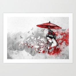 Falling blossoms Art Print