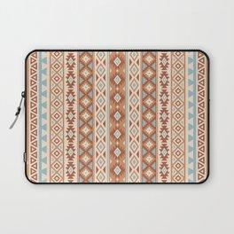 Aztec Stylized Pattern Blue Cream Terracottas Laptop Sleeve