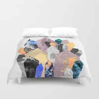 minerals Duvet Covers featuring Crystals by Elisabeth Fredriksson