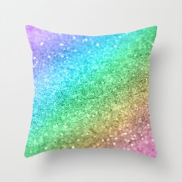 Rainbow Princess Glitter #1 (Photography) #shiny #decor #art #society6 Throw Pillow