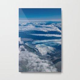 Aerial Glacier Five - Alaska Metal Print