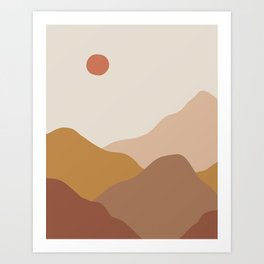 Nordic Abstract Earth Landscape Art Print