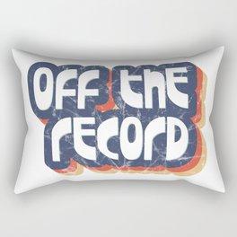 Off the record Rectangular Pillow