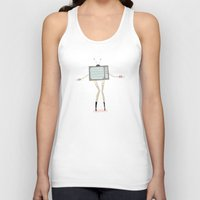 tv Tank Tops featuring TV by Loop in the mind