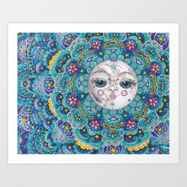 Moon Beams Art Print