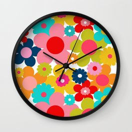 Groovy Daisy Wall Clock