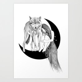 Lady Stardust Art Print