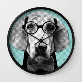 Mr Italian Bloodhound the Hipster Wall Clock