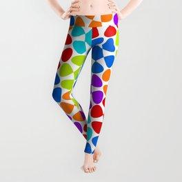 Multi-Coloured Flower Pattern Leggings
