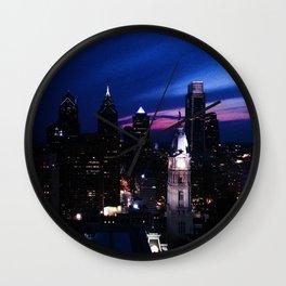 Purple City Mountain Majesties Wall Clock