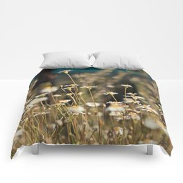 Field of Daisies - Floral Photography #Society6 Comforters