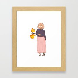 I'm Always Hungry! Framed Art Print