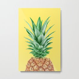 Yellow Pineapple Metal Print