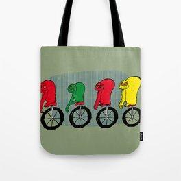 Monkeys on unicycle Tote Bag