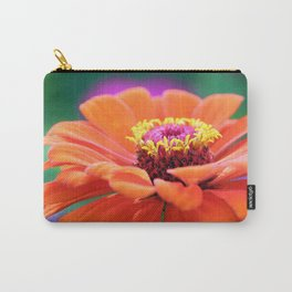 Orange Gerbera Floral Flower Carry-All Pouch