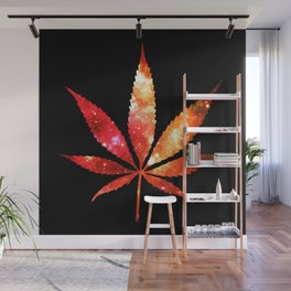 Weed : High Times orange red pink  Galaxy Wall Mural