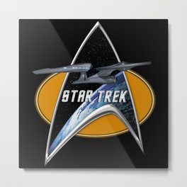 StarTrek Enterprise 09 Command Signia Chest Metal Print